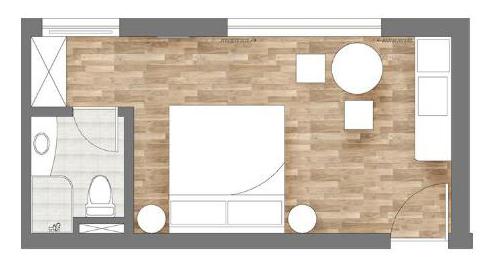 床+沙发+书架+茶几+衣柜+书桌