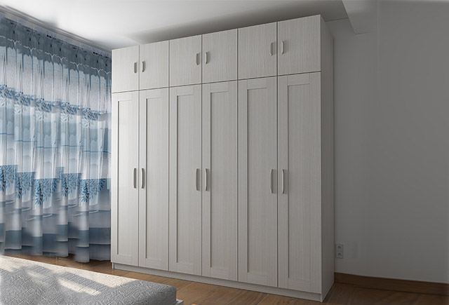 三门长衣柜-大三门衣柜-三开门衣柜效果图