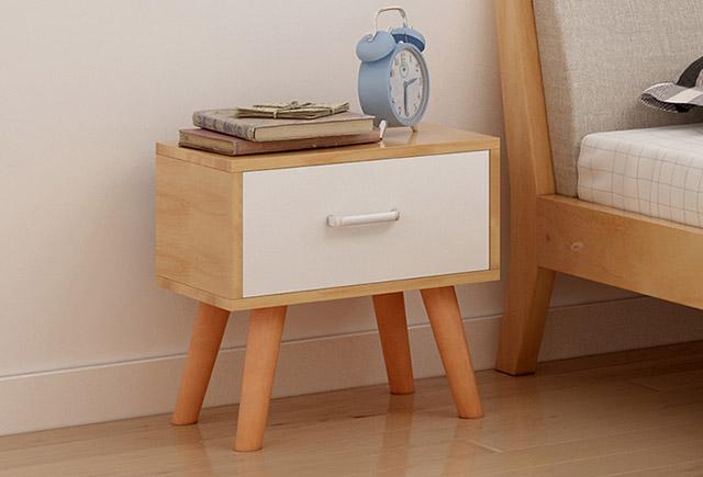 小型床头柜-简式木质床头柜-木制床头柜