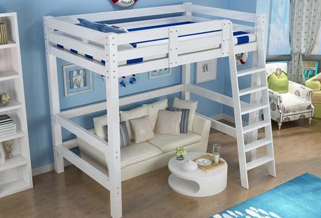 小户型高架床-高架床设计-小户型高架床效果图