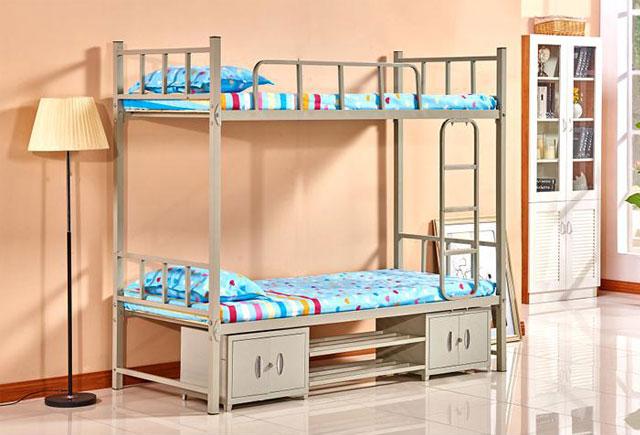 宿舍双层床—宿舍高低床定做—宿舍高低床
