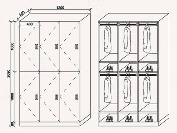 宿舍更衣柜尺寸