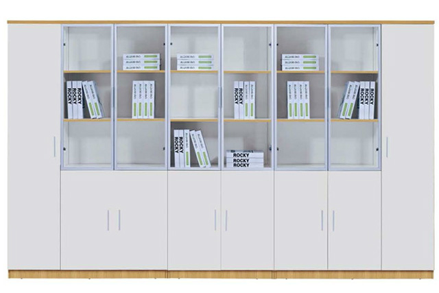 白色防火板文件柜