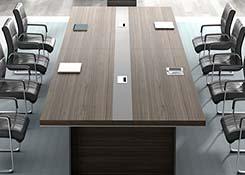 长条实木会议桌