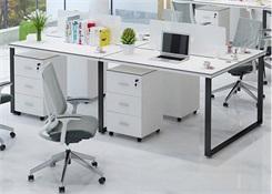 4人办公室长排办公桌