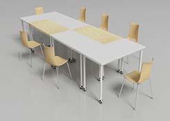 自由�M合�L形桌