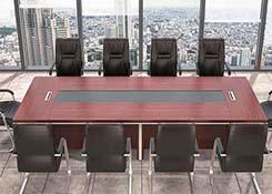 条桌木皮烤漆会议桌