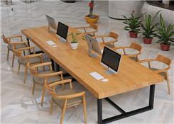 实木拼接展桌
