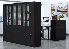 钢制办公玻璃文件柜