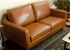 皮质双人沙发
