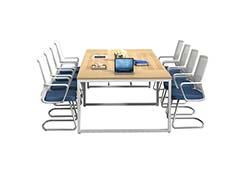 简约钢脚架会议桌
