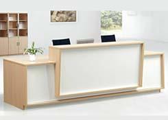 实木油漆前台接待台