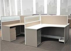 四人位l型屏风隔断办公桌