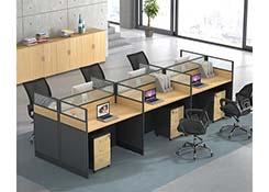 六人屏风隔断办公桌