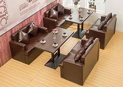 西餐厅卡座沙发