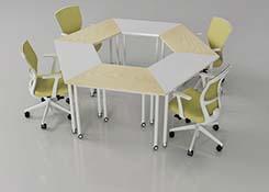 六边形会议桌