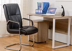 真皮弓型会议椅