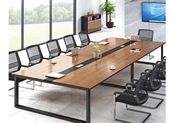 办公桌会议桌一体
