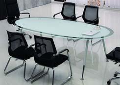椭圆形钢化玻璃桌