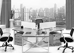办公桌 3 人 位