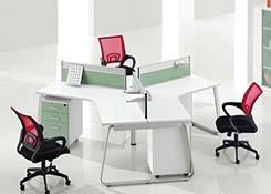 3人办公桌桌金属屏风