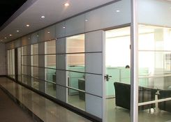 上海玻璃面板隔断