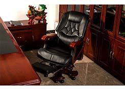 经理椅带头枕 主管转椅
