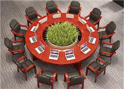 实木圆形会议桌
