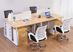 办公桌子4人