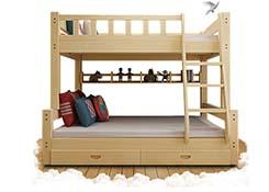 木质双层宿舍床定制