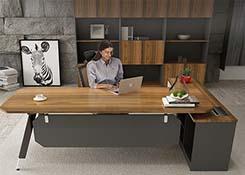 钢木简约办公桌