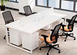 员工桌屏风4人位样式