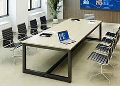 简约钢架会议桌