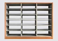 图书馆钢木书架