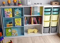 幼儿园木质收纳柜