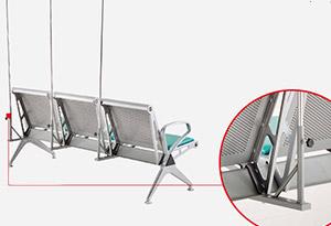 带输液杆的候诊椅-品源医院家具