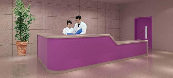 烤漆医用导诊台-品源医院家具