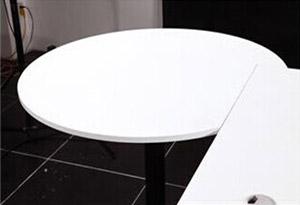 医用办公桌椅圆弧台面
