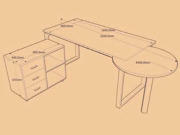 医生诊断桌尺寸