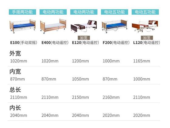 护理床尺寸图
