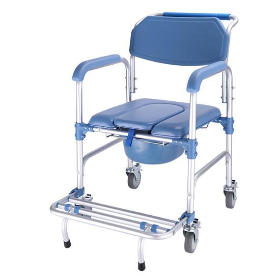 康养机构老年坐便椅护理车 疗养院坐便椅洗澡凳厕所椅