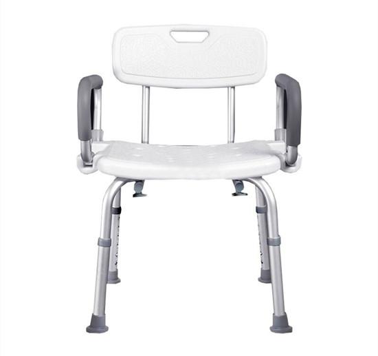 老年公寓浴室洗澡椅带扶手 养老公寓洗澡凳淋浴椅防滑