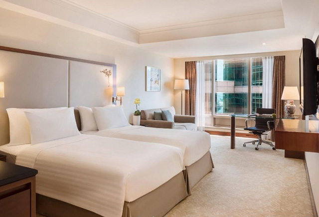 酒店标间单人床