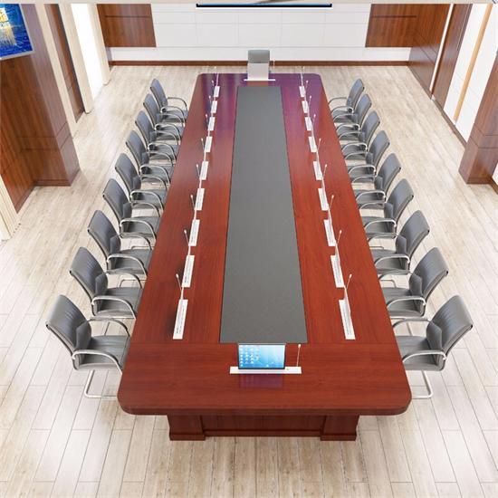 酒店会议桌带麦克风 油漆会议桌隐藏麦克风