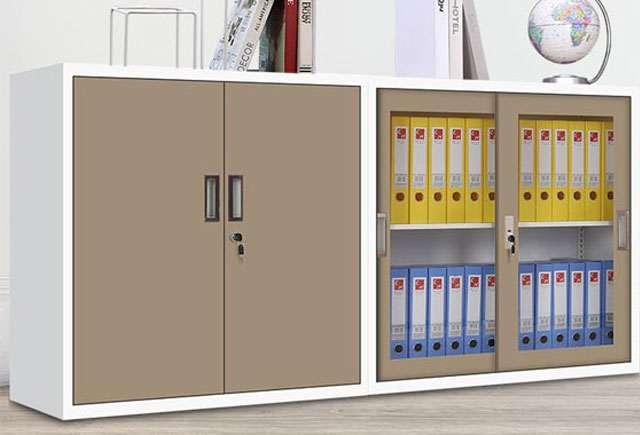 玻璃门矮式文件柜
