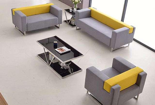 现代灰色布艺沙发