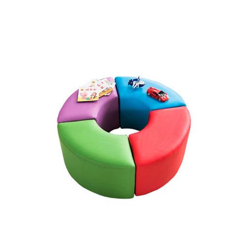 儿童软包长条沙发