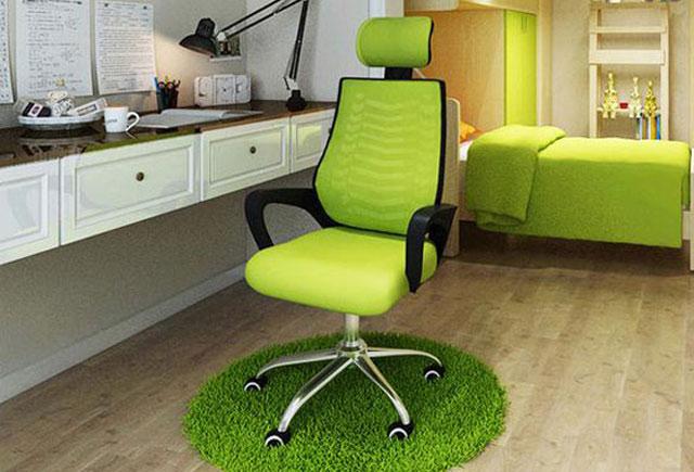 简约绿色会议椅