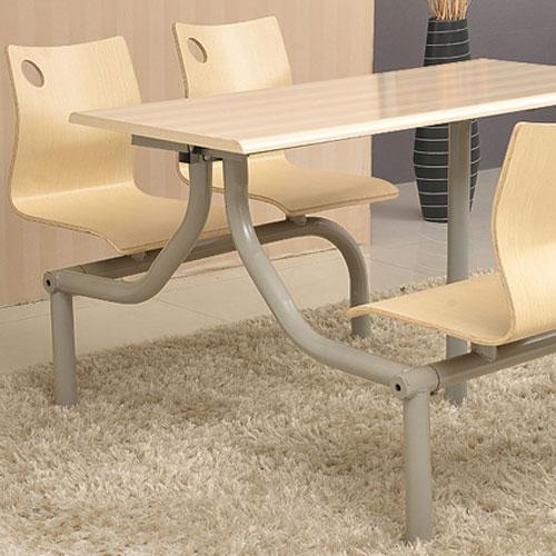 钢木结构餐桌椅