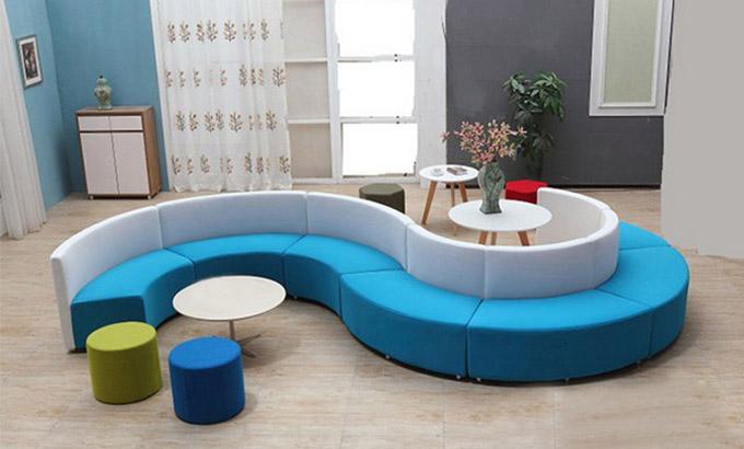 图书馆异形沙发_异形休闲沙发款式